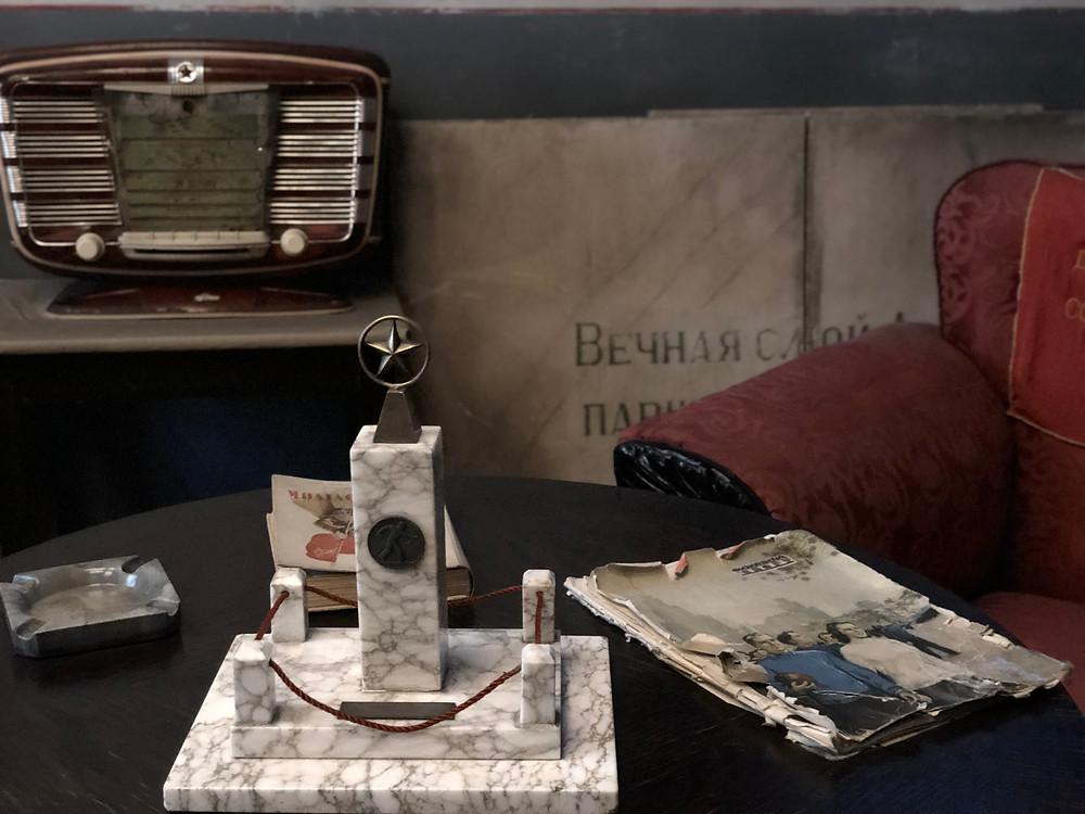 Simbologia soviética y artilugios antiguos en el museo Terror Haza
