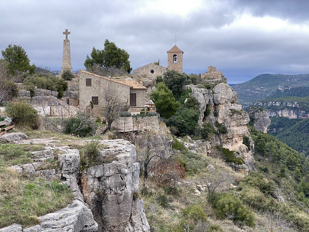 Vista panorámica del pueblo de Siurana de Tarragona