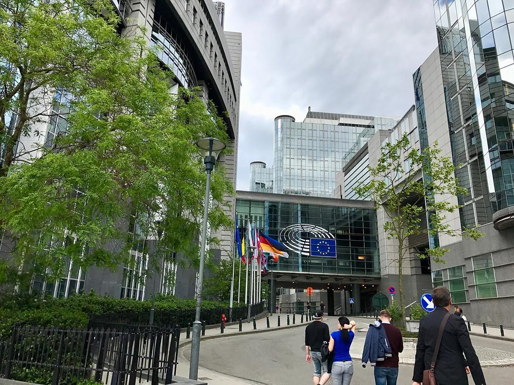 Parlamento de Europa en Bruselas