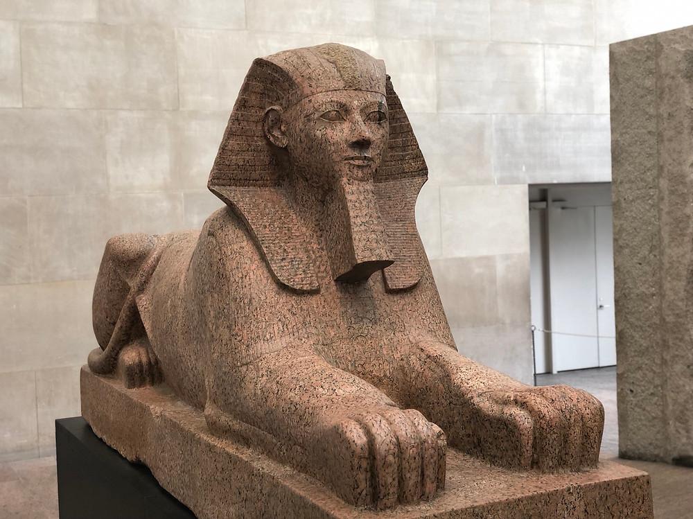 Esfinge egipcia en Museo Metropolitano Arte Nueva York