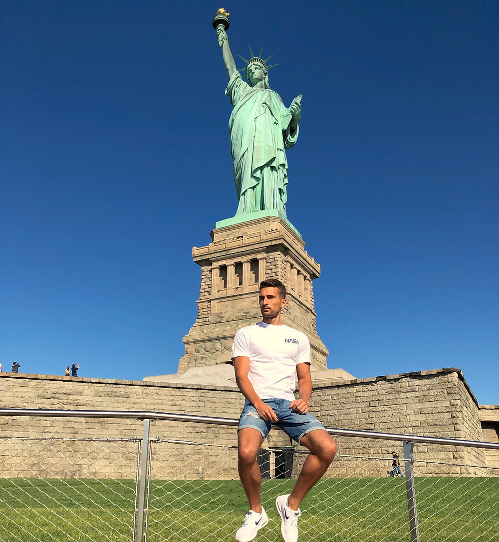 Foto en la Estatua Libertad Nueva York