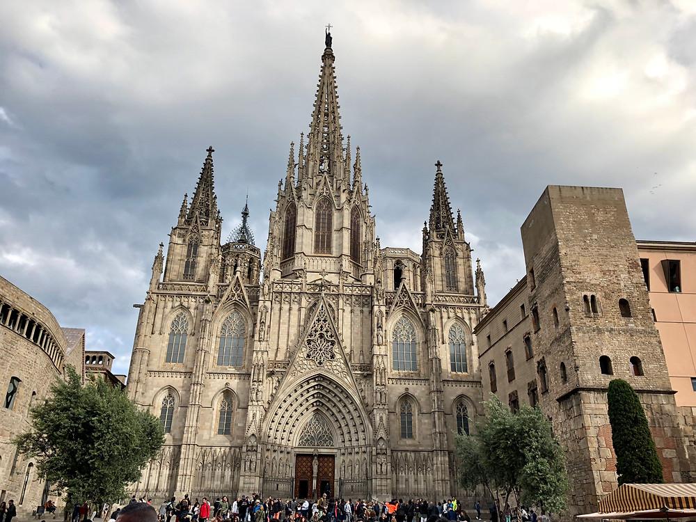 Fachada de la Catedral de Barcelona