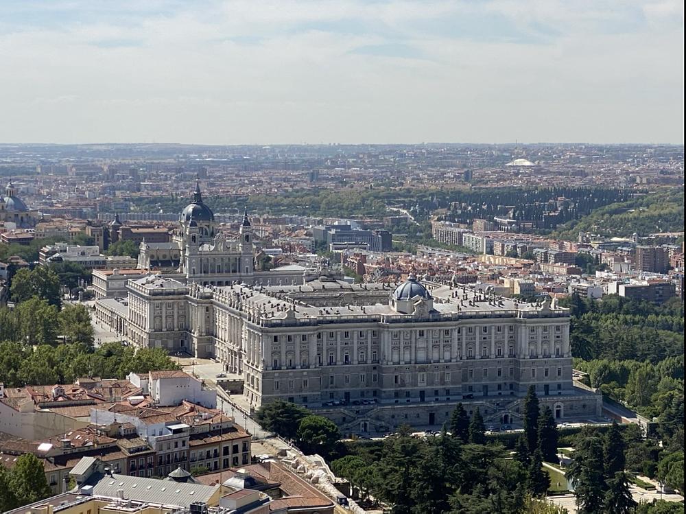 Palacio Real desde el mirador hotel Riu