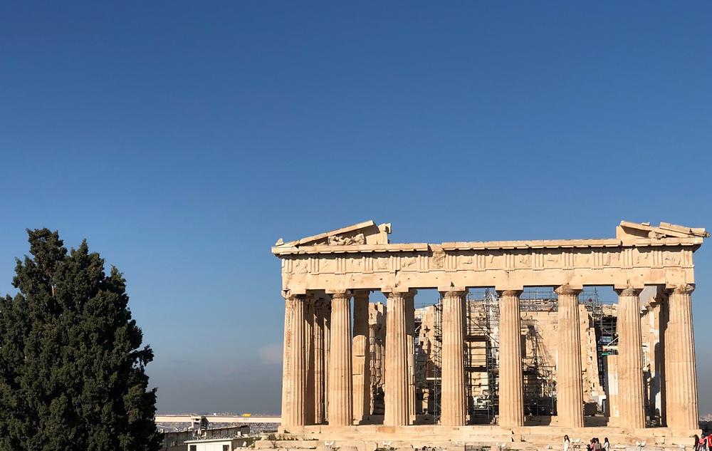 Fachada principal del Partenón de Atenas