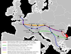 Rutas del Orient Express