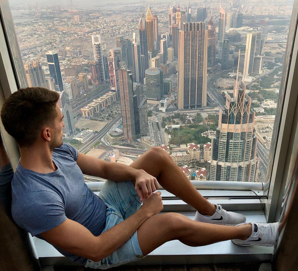 Vistas desde el Level 124 del Burj Khalifa