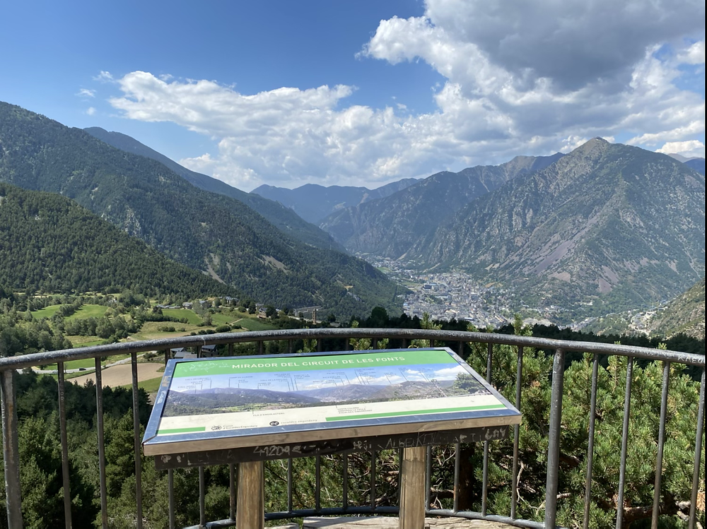 Mirador de les Fonts Andorra