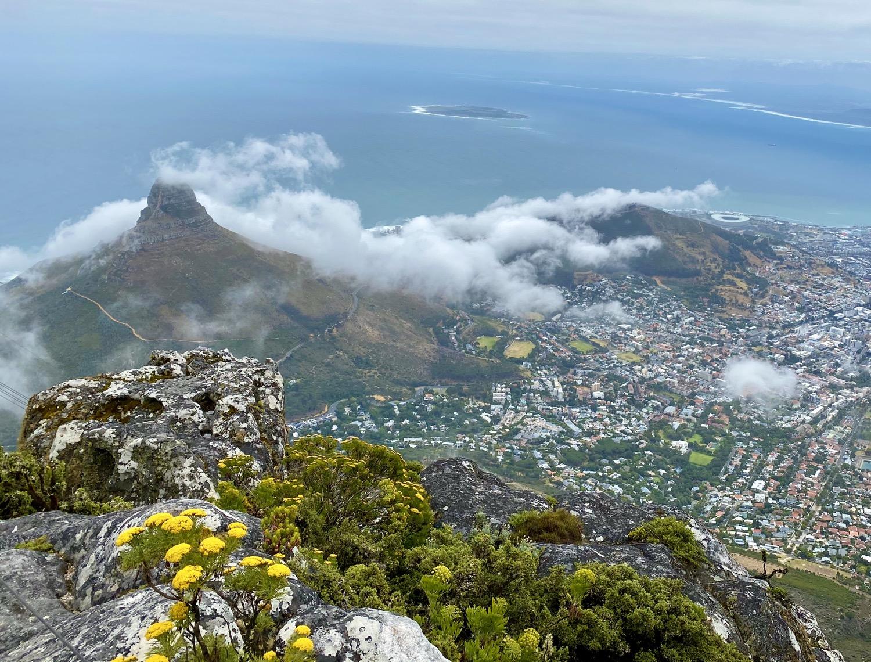 Table Mountain foggy
