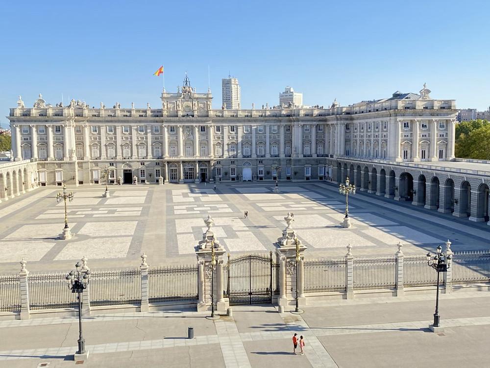 Palacio Real de Madrid visto desde la Almudena