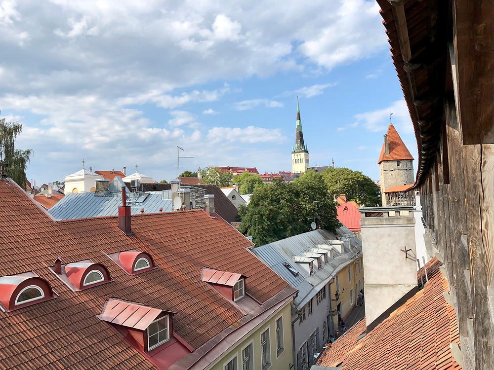 Vista panorámica de Tallin desde la muralla