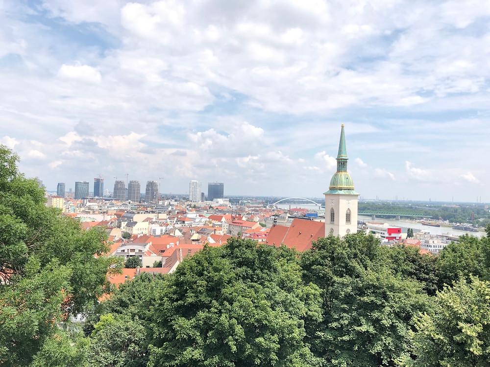Panorámica desde castillo Bratislava