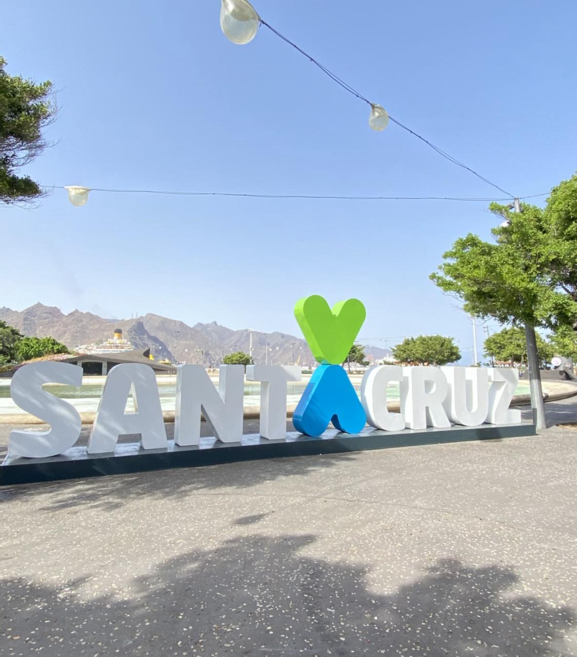 Letras en tres dimensiones de Santa Cruz