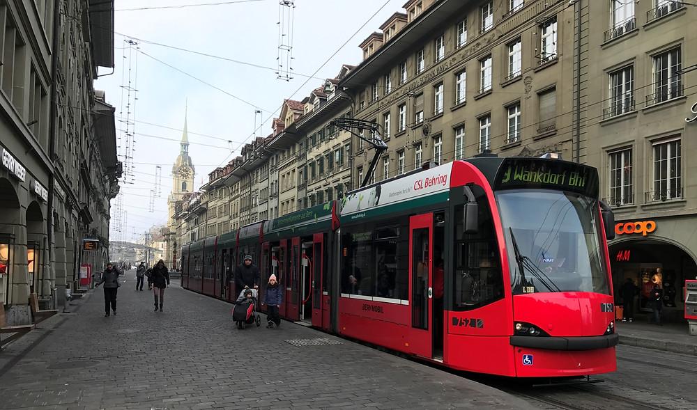 Tranvía ciudad de Berna