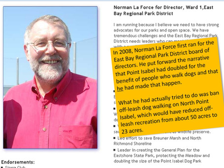 """Sierra Club confirms that La Force did not """"double the Point Isabel Dog Park"""""""