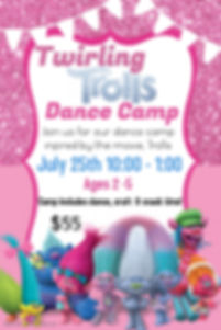 Troll dance camp - Made with PosterMyWal