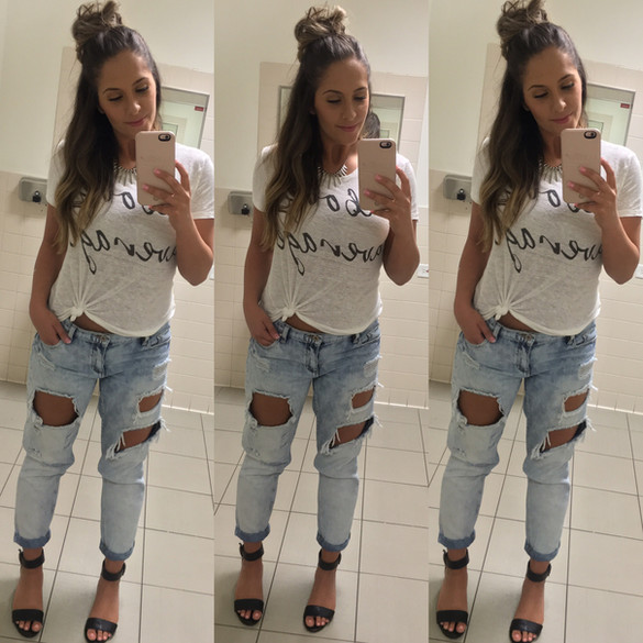 Tee's and Boyfriend Jeans