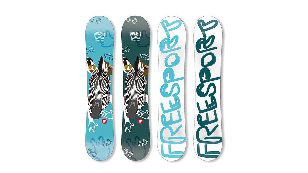 Snowboard Zebra
