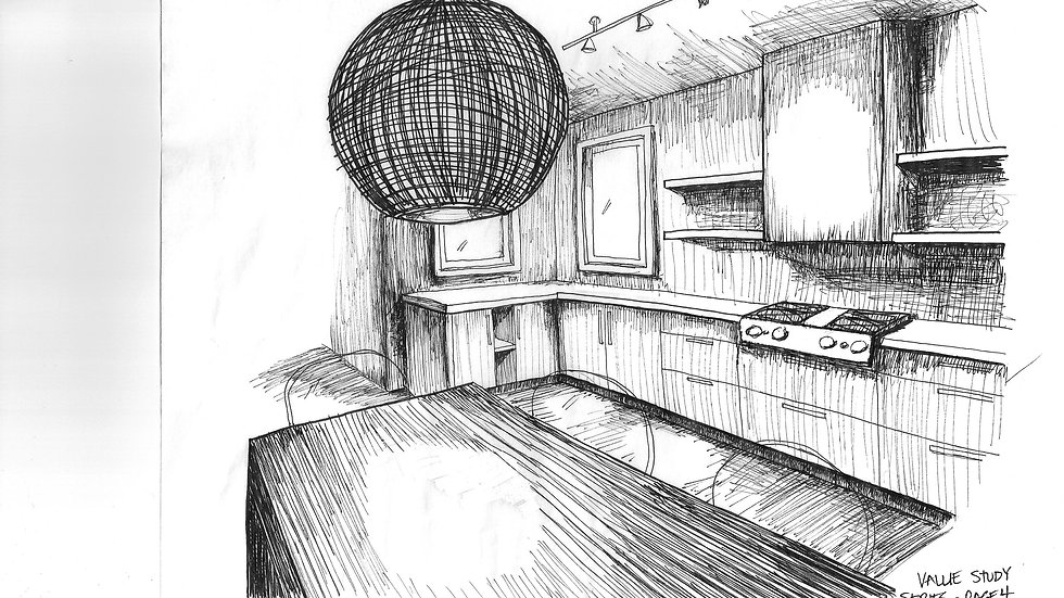 Kitchen (value study)