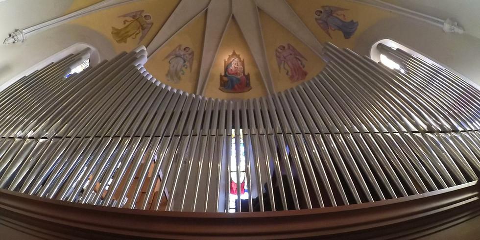 Concerto di musica sacra per coro,  organo, arpa e violino.