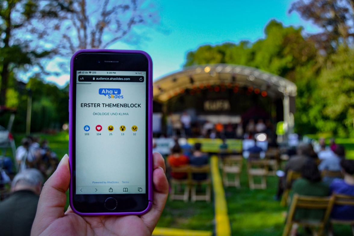 Aha-Slides – das digitale Tool des Abends