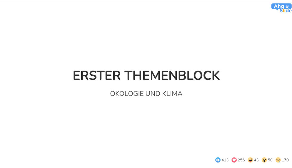 Erster Themenblock