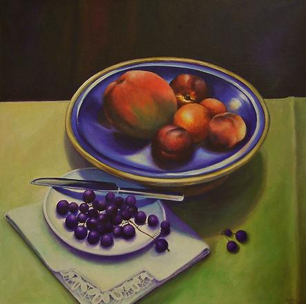 still life, acrylic on canvas, Nancy Bevington, artisan work,
