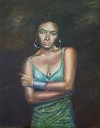 painting, artisan gallery, art gallery, oil painting, artwork online, the green dress, studio 49, port douglas