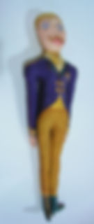 hand made and hand painted silk figure 'The Officer' for sale online