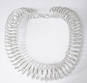 Catwalk hand made sterling silver neck piece