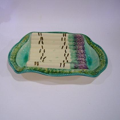Faienced Asparagus Serving Platter