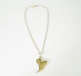 Jaunty Heart handmade sterling silver necklace