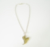 Jaunty Heart hand made sterling silver  necklace
