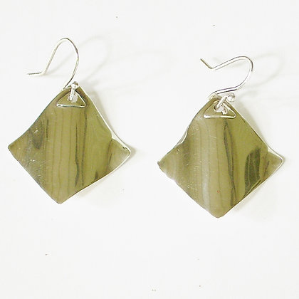 Ray sterling silver earrings