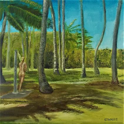 Beneath the coconut palms
