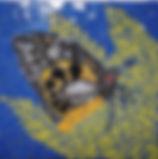 butterfly mosaic art