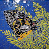 butterfly mosaic art