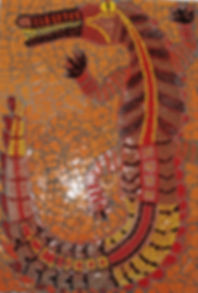 crocodile mosaic art