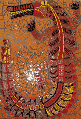 crocodile mosaic art
