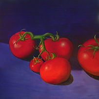 Oil on canvas painting 'Hot Tomatoes'