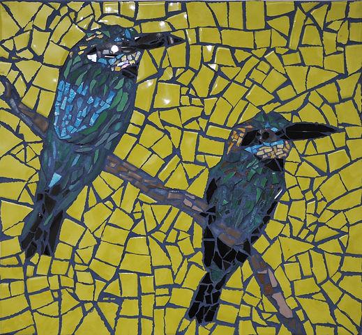 kingfishers mosaic art