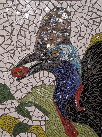 cassowary mosaic art