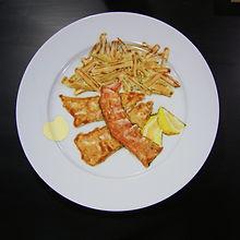 food art hand painted Trompe L'Oeil dinner plate