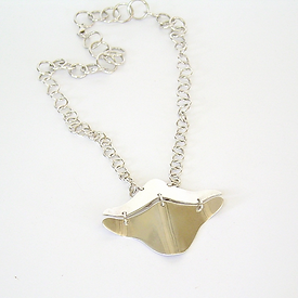 Ray hand made sterling silver necklace
