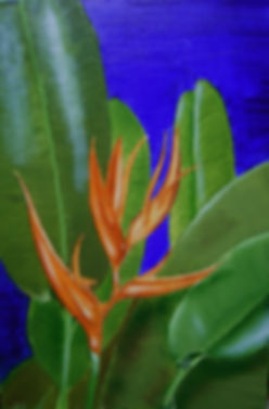 Oil painting on canvas 'Toned Heliconia'