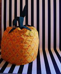 food art hand painted pineapple bean bag
