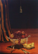 food art original oil on canvas Still Life #5 by Michael Edwards