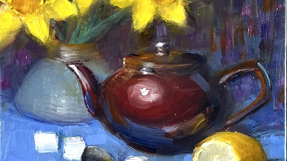 Daffodils and a Teapot