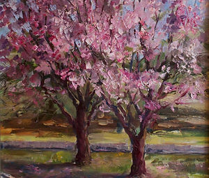 EAlekseyev_Cherry Blossom_oil on linen_e