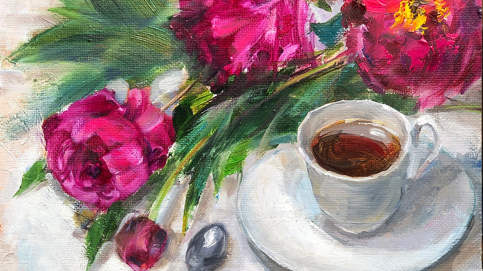 Peonies and a Cuppa Tea