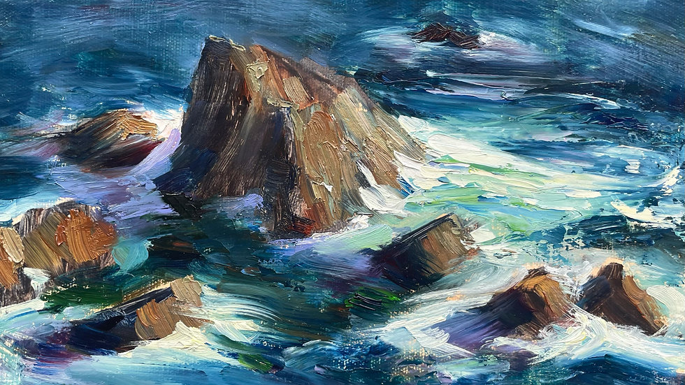Rocks and Waves, Lizard, Cornwall